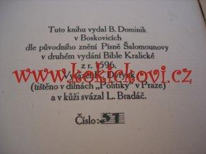 PÍSEŇ PÍSNÍ JEŽ SLOVE ŠALAMOUNOVA - 1910 BOSKOVICE - VÝTISK 51 - RUČNÍ PAPÍR