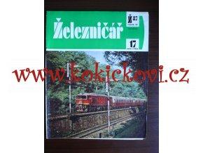 ČASOPIS ŽELEZNIČÁŘ Č.17 / 1987 - JEDNO SAMOSTATNÉ ČÍSLO VIZ FOTO