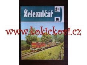 ČASOPIS ŽELEZNIČÁŘ Č.16 / 1987 - JEDNO SAMOSTATNÉ ČÍSLO VIZ FOTO