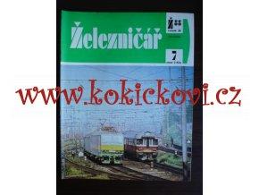 ČASOPIS ŽELEZNIČÁŘ Č.7 / 1988 - JEDNO SAMOSTATNÉ ČÍSLO VIZ FOTO
