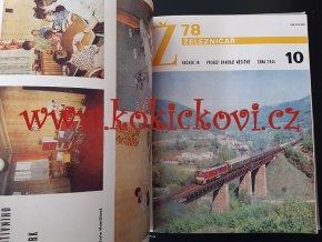 ČASOPIS ŽELEZNIČÁŘ 1978 NEKOMPLETNÍ POUZE 23 ČÍSEL