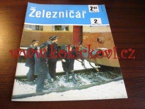 ČASOPIS ŽELEZNIČÁŘ Č.2 / 1981 - JEDNO SAMOSTATNÉ ČÍSLO VIZ FOTO