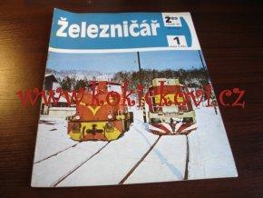 ČASOPIS ŽELEZNIČÁŘ Č.1 / 1989 - JEDNO SAMOSTATNÉ ČÍSLO VIZ FOTO