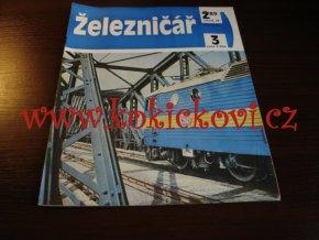 ČASOPIS ŽELEZNIČÁŘ Č.3 / 1989 - JEDNO SAMOSTATNÉ ČÍSLO VIZ FOTO