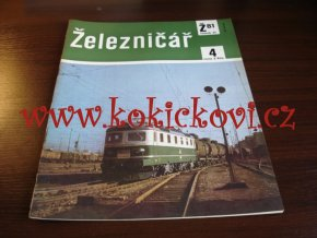 ČASOPIS ŽELEZNIČÁŘ Č.4 / 1981 - JEDNO SAMOSTATNÉ ČÍSLO VIZ FOTO