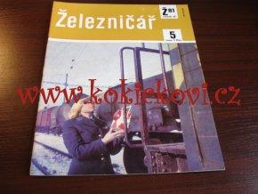 ČASOPIS ŽELEZNIČÁŘ Č.5 / 1981 - JEDNO SAMOSTATNÉ ČÍSLO VIZ FOTO