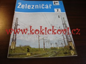ČASOPIS ŽELEZNIČÁŘ Č.7 / 1981 - JEDNO SAMOSTATNÉ ČÍSLO VIZ FOTO
