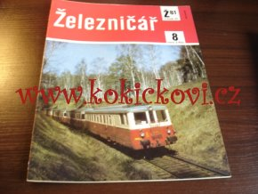 ČASOPIS ŽELEZNIČÁŘ Č.8 / 1981 - JEDNO SAMOSTATNÉ ČÍSLO VIZ FOTO