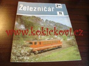 ČASOPIS ŽELEZNIČÁŘ Č.11 / 1981 - JEDNO SAMOSTATNÉ ČÍSLO VIZ FOTO
