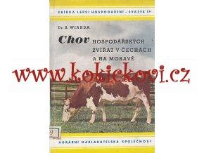 Chov hospodářských zvířat v Čechách a na Moravě - chov koní skotu ovcí ryb 1943