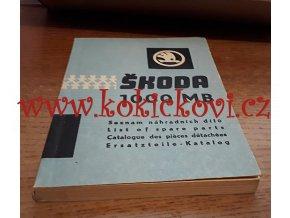 Škoda 1000 MB - seznam náhradních dílů - 1964 - MOTOKOV