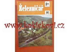 ČASOPIS ŽELEZNIČÁŘ Č.14 / 1982 - JEDNO SAMOSTATNÉ ČÍSLO VIZ FOTO