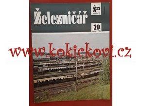 ČASOPIS ŽELEZNIČÁŘ Č.20 / 1982 - JEDNO SAMOSTATNÉ ČÍSLO VIZ FOTO