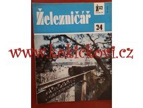 ČASOPIS ŽELEZNIČÁŘ Č.24 / 1982 - JEDNO SAMOSTATNÉ ČÍSLO VIZ FOTO