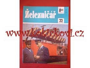 ČASOPIS ŽELEZNIČÁŘ Č.22 / 1982 - JEDNO SAMOSTATNÉ ČÍSLO VIZ FOTO