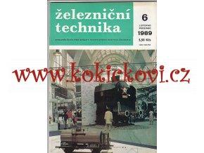 ČASOPIS ŽELEZNIČNÍ TECHNIKA 6/1989/ 44STRAN - JEDNO SAMOSTATNÉ ČÍSLO VIZ FOTO