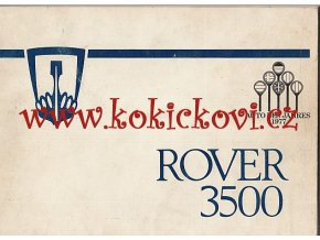 ROVER 3500 - AUTO DES JAHRES 1977 - NÁVOZ K OBSLUZE NĚMECKY