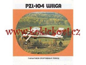 PZL-104 WILGA - REKLAMNÍ PROSPEKT - TEXT RUSKY