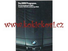 DAS BMW PROGRAMM 1986 - PROSPEKT A4 - 16 STRAN - TEXT NĚMECKY PĚKNÝ STAV