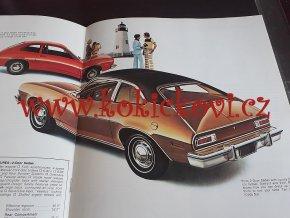 1974 FORD PINTO USA - PROSPEKT 23*28 CM - 12 STRAN - ZACHOVALÝ STAV