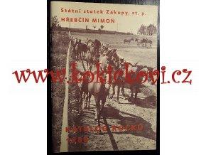 Katalog ročků 1988 - Hřebčín Mimoň