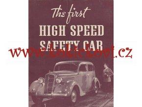 PLYMOUTH SAFETY CAR 1935 REKLAMNÍ PROSPEKT