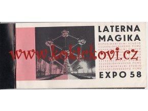 Laterna magika, experimentální studio československého filmu v Praze : Program Expo 58 - obálka Libor Fára