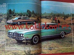 REKLAMNÍ PROSPEKT FORD 1972 - BAREVNÉ FOTOGRAFIE