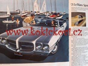 REKLAMNÍ PROSPEKT / KATALOG PURE PONTIAC 1971 - BAREVNÉ FOTOGRAFIE - 58 STRAN - FIREBIRD - CATALINA GTO AJ.