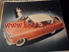 REKLAMNÍ PROSPEKT / KATALOG 1955 AMC American Motors RAMBLER Lg Color Sales Brochure