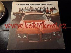 REKLAMNÍ PROSPEKT / 1970 Pontiac GTO Hi Performance Brochure Grand Prix mx5071-DNPT43