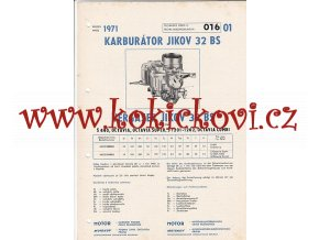 ŠKODA 440 - OCTAVIA SUPER - ŠKODA 1201 - KARBURÁTOR JIKOV - TECHNICKÝ POPIS - A4
