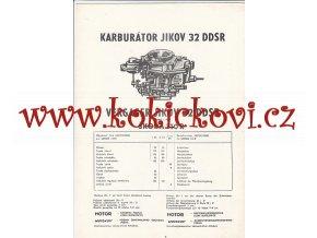 ŠKODA 110 R - KARBURÁTOR JIKOV - TECHNICKÝ POPIS - A4