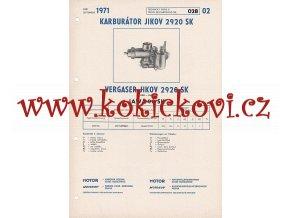 JAWA 90 SK - KARBURÁTOR JIKOV - TECHNICKÝ POPIS - A4