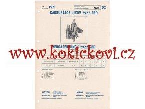 MOTOCYKL ČZ 125 - KARBURÁTOR JIKOV - TECHNICKÝ POPIS - A4