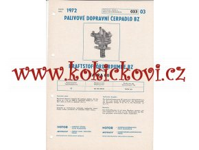 TATRA 805 - KARBURÁTOR JIKOV - TECHNICKÝ POPIS - A4