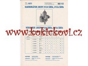 MOTOCYKL JAWA 250 - JAWA 350 - ČZ 125 - ČZ 175 A ČZ 250 - KARBURÁTOR JIKOV - TECHNICKÝ POPIS - A4