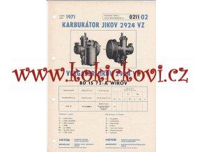 BD 1S 72 - A WIKOV - KARBURÁTOR JIKOV - TECHNICKÝ POPIS - A4