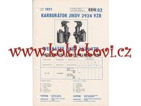 BD 1S 72 - A / RNB / RNO / RNV - KARBURÁTOR JIKOV - TECHNICKÝ POPIS - A4