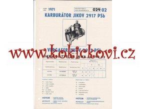 MOTOCYKL JAWA 50 TYP 20 - JAWA 50 TYP 22 - KARBURÁTOR JIKOV - TECHNICKÝ POPIS - A4