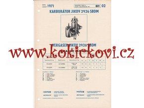 MOTOCYKL JAWA 350 - JAWA 250 - KARBURÁTOR JIKOV - TECHNICKÝ POPIS - A4