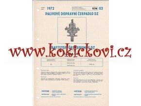 TATRA 603 BENZÍNOVÉ ČERPADLO - TECHNICKÝ POPIS - A4
