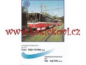 ČKD Tatra - T6A5 - tramvaj - prospekt - A4  - 6 stran