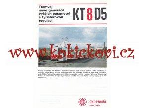 ČKD Tatra - KT8D5 - tramvaj - prospekt - A4  - 2 strany
