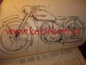 JAWA 350 PÉRÁK - TYP 18 - 2 VÁLCE 1951/52 - SEZNAM NÁHRADNÍCH SOUČÁSTÍ PRO MOTOCYKL
