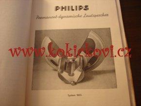 BAUTEILE PHILIPS 1937 - STAVEBNÍ SOUČÁSTKY - REPRODUKTORY - KONDENZÁTORY - TRANSFORMÁTORY AJ.