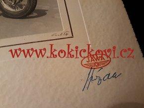 JAWA PODNIKOVÁ REKLAMNÍ FOTOGRAFIE - JAWA 250 KÝVAČKA - 1957 - PODPIS FOTOGRAFA