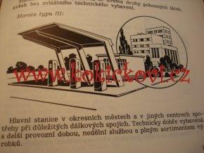 OBSLUHA U ČERPACÍ STANICE - UČELOVÁ PUBLIKACE NÁRODNÍ PODNIK BENZINA 1959