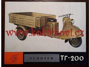 SCOOTER TG - 200 - TULA CARGO - REKLAMNÍ PROSPEKT - 4 STR. A5 -AVTOEXPORT