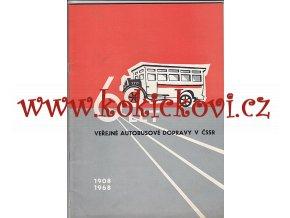 60 LET AUTOBUSOVÉ DOPRAVY V ČSSR 1908-1968 - uvnitř Škoda Tatra Praga